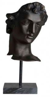 Casa Padrino Designer Steinskulptur Antik Bronze - Luxus Dekoration