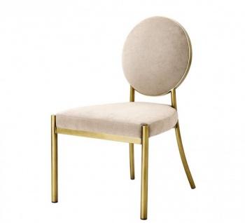 Casa Padrino Luxus Esszimmer Stuhl Gold - Luxus Qualität