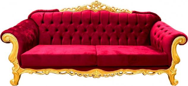 Casa Padrino Luxus Barock Sofa - Verschiedene Farben - Prunkvolles handgefertigtes Wohnzimmer Sofa - Barock Wohnzimmer Möbel