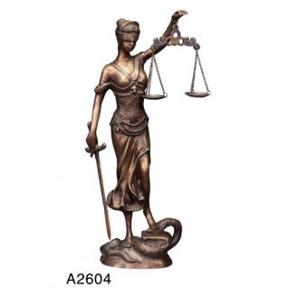 Casa Padrino Luxus Bronzefigur Lady with Scale II - Bronze Justitia Figur Büste Anwalt Notar - Frau mit Waage