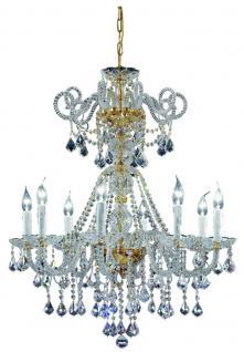 Casa Padrino Barockstil Kristall Kronleuchter Messing / Gold Ø 74 cm x H. 85 cm - Edel & Prunkvoll