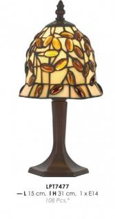 Tiffany Tischleuchte Durchmesser 15cm, Höhe 31cm LPT7477 Leuchte Lampe
