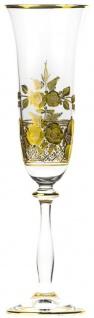 Casa Padrino Luxus Barock Champagnerglas 6er Set Gold Ø 7 x H. 24, 5 cm - Handgefertigte und handgravierte Champagnergläser - Hotel & Restaurant Accessoires - Luxus Qualität