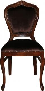 Casa Padrino Barock Luxus Esszimmer Stuhl Braun/Braun - Damen Schminktisch Stuhl - Limited Edition