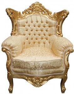 Casa Padrino Barock Wohnzimmer Set Gold Muster/ Gold - 3er Sofa+2er Sofa + 1 Sessel - Vorschau 4