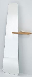 Casa Padrino Designer Standspiegel mit Regal 71 x 14 x H. 170 cm - Luxus Qualität