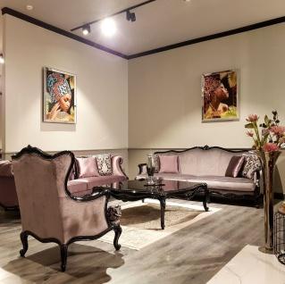 Casa Padrino Luxus Barock Chesterfield Sofa Rosa / Schwarz - Prunkvolles Wohnzimmer Sofa - Barock Wohnzimmer Möbel - Luxus Qualität - Vorschau 3