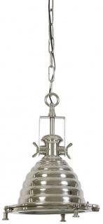 Casa Padrino Hängeleuchte Deckenleuchte Silber Industrial Design Durchmesser 31 x H 48 cm - Industrie Lampe Leuchte Industrieleuchte