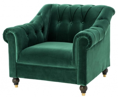 Casa Padrino Luxus Chesterfield Sessel Grün 99 x 90 x H. 81, 5 cm - Limited Edition