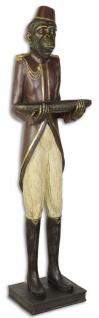 Casa Padrino Deko Butler Figur Affe Mehrfarbig 27, 6 x 23, 8 x H. 98, 4 cm - Dekofigur - Polyresin Deko Skulptur
