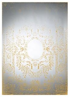 Casa Padrino Art Deco Vintage Wandspiegel Bronze 101 x H. 142 cm - Antik Stil Möbel