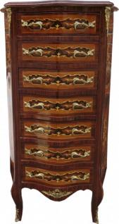 Casa Padrino Barock Kommode Mahagoni Intarsien mit 7 Schubladen 120 x 70 x 35 cm - Antik Stil