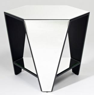 Casa Padrino Luxus Spiegelglas Beistelltisch 59 x 51 x H. 49 cm - Designermöbel
