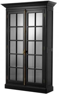 Casa Padrino Luxus Wohnzimmerschrank Schwarz 141 x 48 x H. 233 cm - Limited Edition