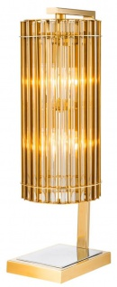 Casa Padrino Luxus Tischleuchte Gold 23 x 16, 5 x H. 66 cm - Limited Edition