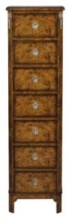 Casa Padrino Luxus Jugendstil Kommode mit 7 Schubladen Braun 35 x 30 x H. 127 cm - Luxus Qualität - Vorschau 3