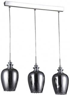 Casa Padrino 3er Hängeleuchte Silber / Grau 70 x H. 100 cm - Hängelampe mit feinsten Kristall Behängen