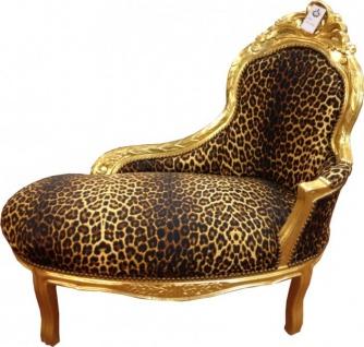 Barock Kinder Chaiselongue Leopard/Gold - Tron Barock Möbel
