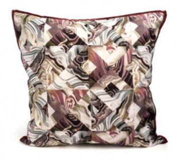 Casa Padrino Luxus Design Kissen Mehrfarbig 45 x 45 cm - Deko Zierkissen