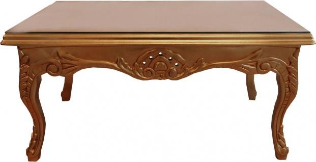Casa Padrino Barock Couchtisch Gold 100 x 70 cm - Wohnzimmer Salon Tisch Möbel