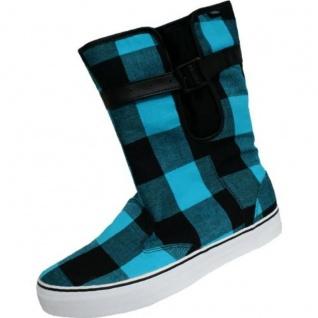 Vans Schuhe / Stiefel Rainy Day Buff Plaid Black/Blue - Skateboard Shoes Beliebte Schuhe