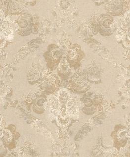 Casa Padrino Barock Textiltapete Beige / Gold 10, 05 x 0, 53 m - Wohnzimmer Deko Accessoires - Vorschau