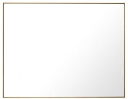 Casa Padrino Luxus Spiegel / Wandspiegel Messingfarben 180 x H. 140 cm - Garderobenspiegel - Wohnzimmer Spiegel - Luxus Qualität