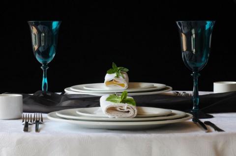 Casa Padrino Luxus Barock Weißweinglas 6er Set Blau-Grün Ø 8, 5 x H. 21 cm - Handgefertigte Weingläser - Hotel & Restaurant Accessoires - Luxus Qualität