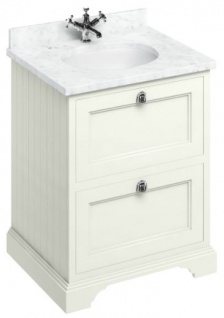 Casa Padrino Waschschrank / Waschtisch mit Marmorplatte und 2 Schubladen - Luxus Edition - Vorschau 2