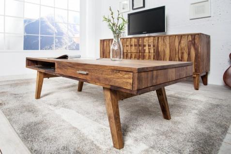 Casa Padrino Designer Massivholz Couchtisch Natur 120 x H. 40 cm - Salon Wohnzimmer Tisch - Vorschau 5