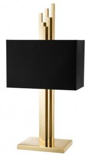 Casa Padrino Luxus Tischleuchte Messing / Schwarz 27 x 40 x H. 80 cm - Luxus Kollektion