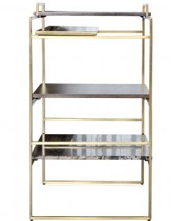 Casa Padrino Luxus Designer Beistelltisch Gold 45 x 45 x H. 80, 5 cm - Designer Möbel