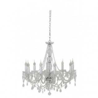 Casa Padrino Barock Decken Kristall Kronleuchter Klar Durchmesser 75 x H 71 cm Antik Stil - Möbel Lüster Leuchter Deckenleuchte Hängelampe