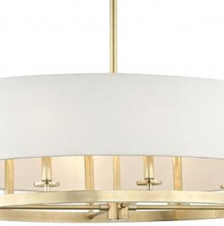 Casa Padrino Luxus Hängeleuchte Antik Messingfarben / Weiß Ø 99, 7 x H. 29, 9 cm - Luxus Kollektion - Vorschau 2