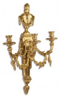 Casa Padrino Barock Wandkerzenhalter Gold 45 x 29, 5 x H. 78 cm - Edel & Prunkvoll