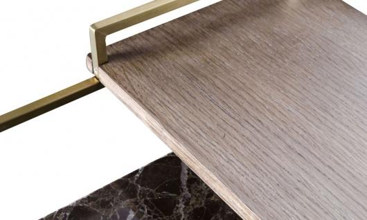 Casa Padrino Luxus Couchtisch Gold 60 x 60 x H. 36, 5 cm - Designer Wohnzimmertisch - Vorschau 5