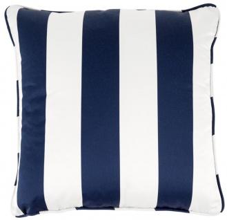 Casa Padrino Luxus Kissen Blau / Weiß 60 x 60 cm - Wohnzimmer Accessoires