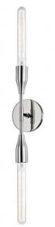 Casa Padrino Luxus Doppel Wandleuchte Silber 12, 1 x 8, 9 x H. 76, 2 cm - Luxus Kollektion