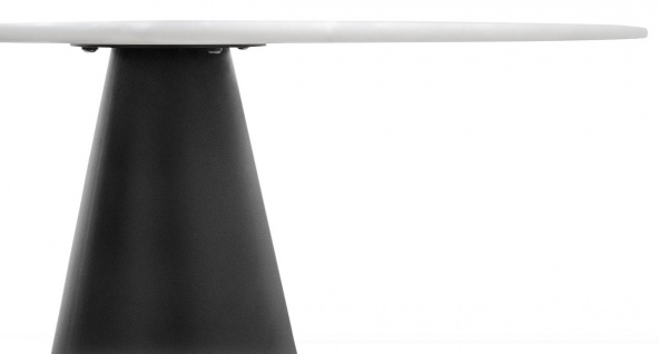 Casa Padrino Designer Esstisch Schwarz / Weiß 120 x H. 76 cm - Esszimmertisch - Vorschau 3