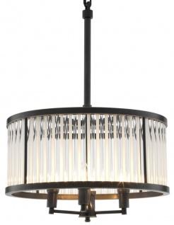 Casa Padrino Luxus Kronleuchter Bronze 52 x H. 74 cm - Designer Wohnzimmer Möbel