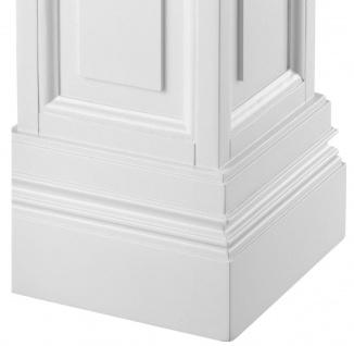 Casa Padrino Wohnzimmer Säule Weiß 33 x 33 x H. 120 cm - Luxus Kollektion - Vorschau 2