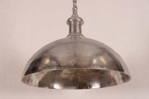 Casa Padrino Hängeleuchte Deckenleuchte Antik Nickel Industrial Design 50cm Durchmesser - Industrie Lampe Leuchte