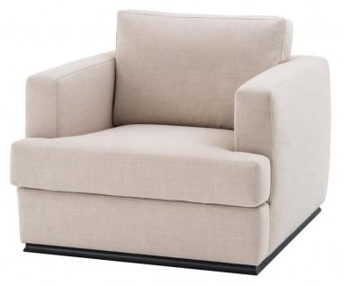 Casa Padrino Sessel Naturfarbig 96 x 103 x H. 86 cm - Luxus Qualität