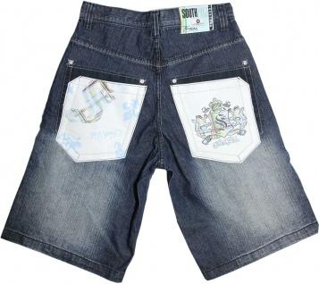 Southpole Hip Hop Short - Kurze Jeans Hose Blau - Shorts South Pole