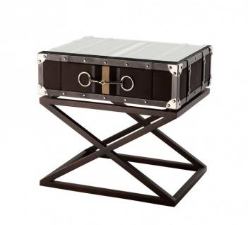 Casa Padrino Luxus Art Deco Designer Beistelltisch Grau - Hotel Tisch Möbel