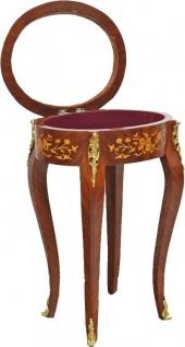 Casa Padrino Barock Beistelltisch Mahagoni Intarsien / Gold H75 x 55 cm - Ludwig XVI Antik Stil Tisch - Möbel - Vorschau 3