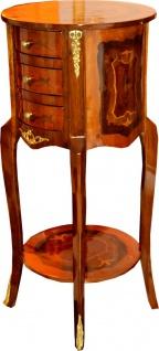 Casa Padrino Barock Kommode mit Schubladen Braun 80 x 40 cm - Antik Stil Beistell Tisch - Telefontisch - Möbel