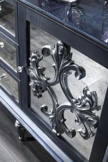Casa Padrino Luxus Barock Wohnzimmer Set Grau / Blau / Silber - Kommode und 3 Spiegel - Barock Wohnzimmermöbel - Vorschau 3