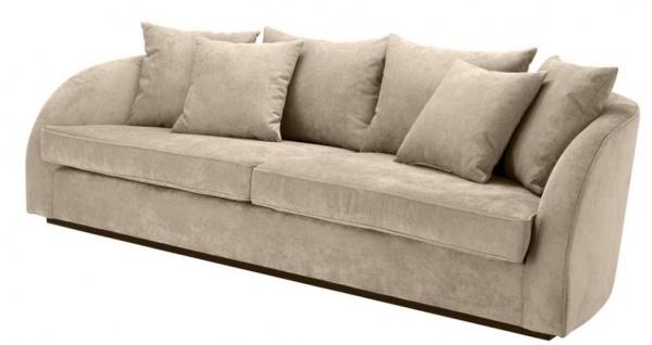 Casa Padrino Luxus Hotel Sofa Greige 255 x 91 x H. 72 cm - Designer Kollektion