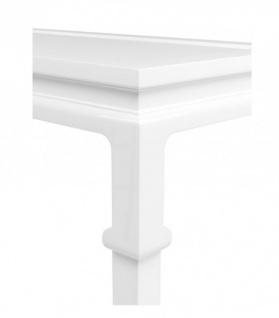 Casa Padrino Luxus Mahagoni Konsole Weiß 160 x 45 x H. 78 cm - Luxus Hotel Möbel - Vorschau 3